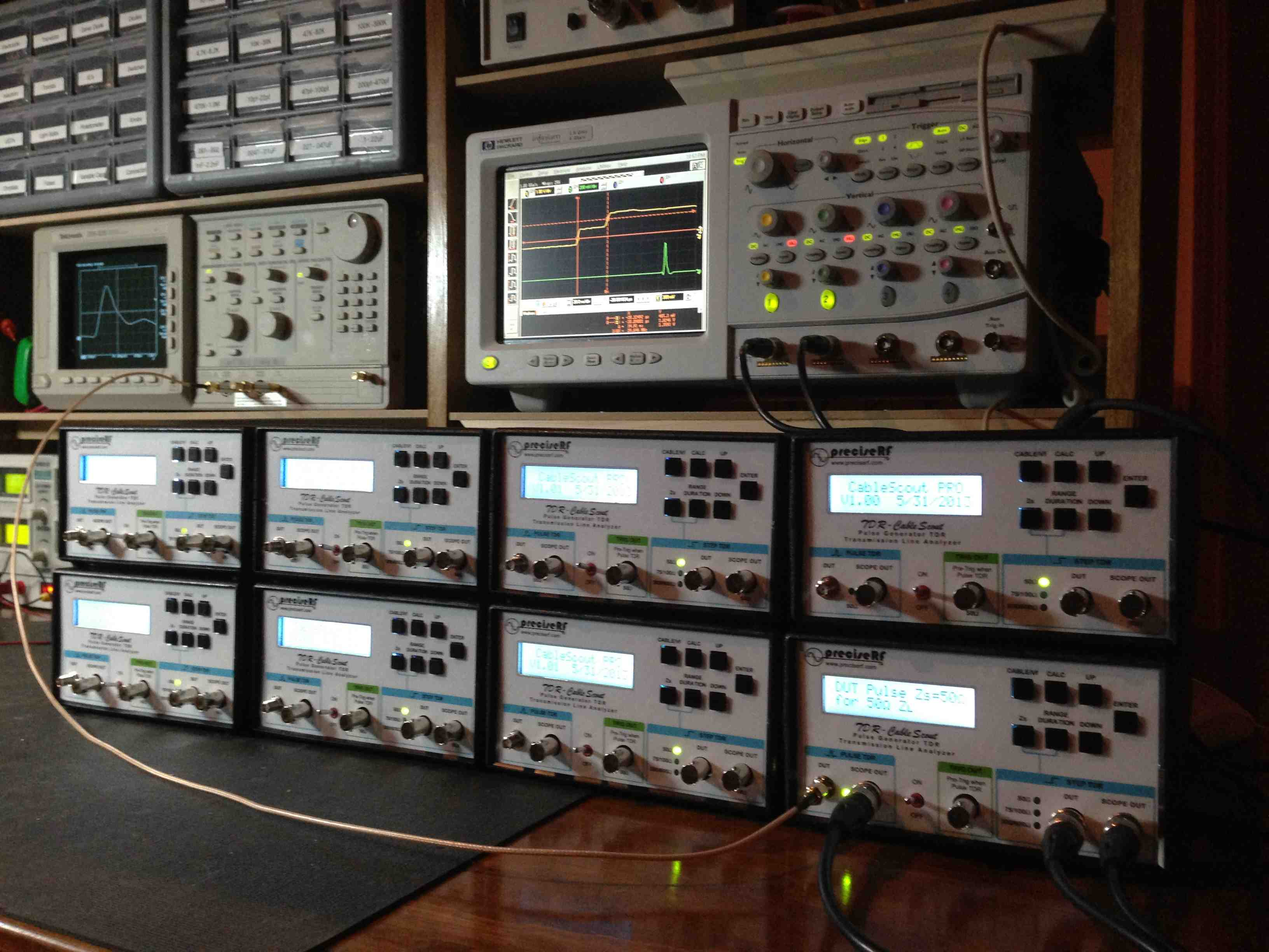 TDR Pulse Generator provided with individual calibration data ...